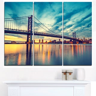 Ben Franklin Bridge in Philadelphia - Cityscape Canvas print
