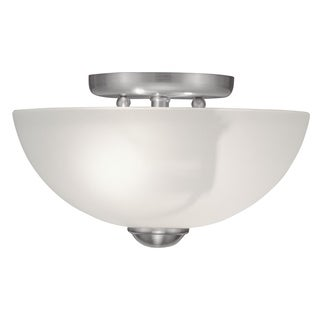 Livex Lighting Somerset 2-light Brushed Nickel Finish Ceiling Mount