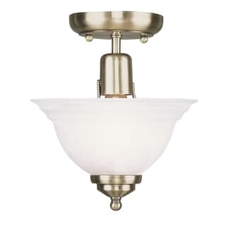 Livex Lighting North Port Antique Brass 1-light Ceiling Mount