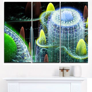 World of Infinite Fractal Universe - Oversized Abstract Canvas Art