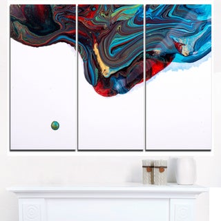 Multi-Color Abstract Acrylic Paint Mix - Abstract Art on Canvas