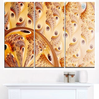 Light Brown Fractal Flower Design - Oversized Abstract Canvas Art