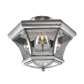 Livex Lighting Monterey Brushed-nickel 3-light Ceiling Mount Lighting