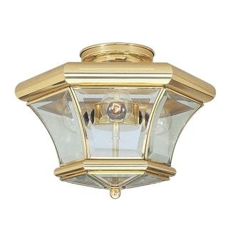Livex Lighting Monterey Polished-brass 3-light Ceiling-mount Light Fixture