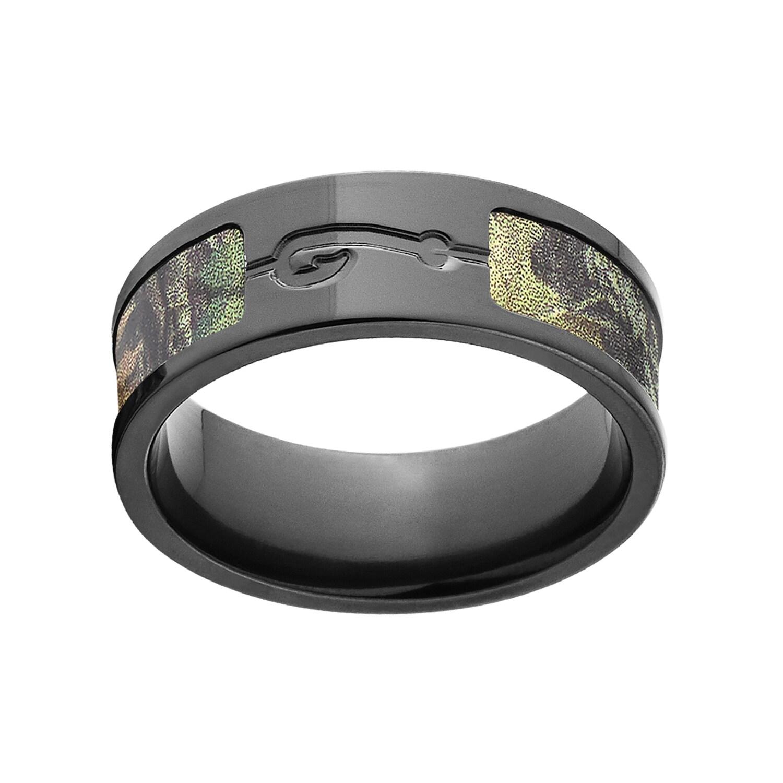 BZ New Break Up Mossy Oak Camo Ring (8.5), Men's, Black