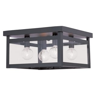 Livex Lighting Milford 4-light Bronze Ceiling-mounted Light Fixture