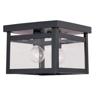 Livex Lighting Milford Bronze 2-light Ceiling Mount Light Fixture