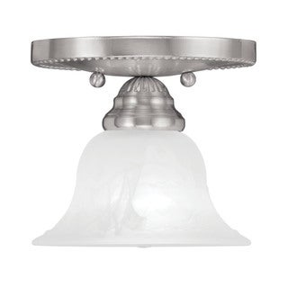 Livex Lighting Edgemont Brushed-nickel 1-light Ceiling-mount Light