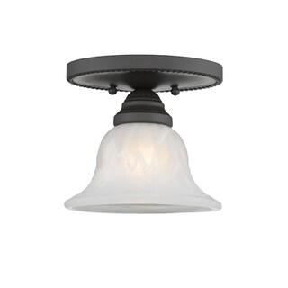 Livex Lighting Edgemont 1-light Bronze Ceiling Mount Fixture