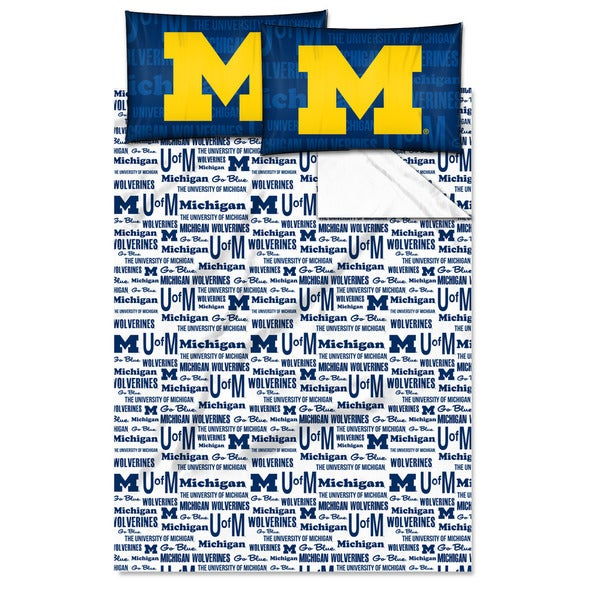 COL 821 Michigan 'Anthem' Full-size Sheet Set