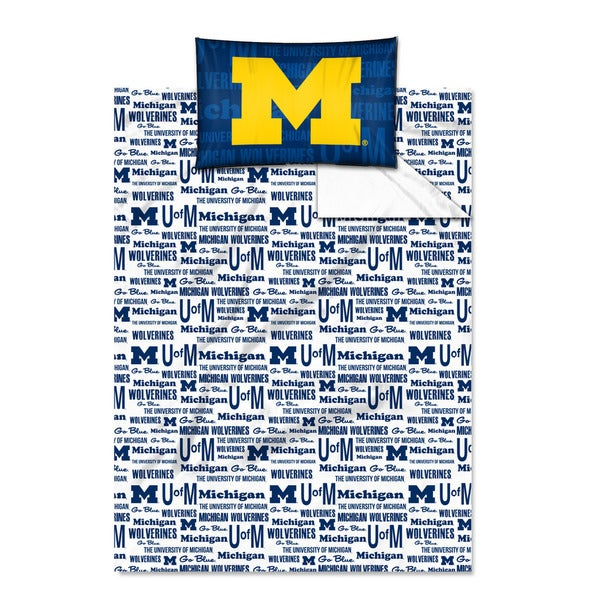 COL 820 Michigan 'Anthem' Twin-size Sheet Set