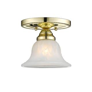 Livex Lighting Edgemont 1-light Polished Brass Ceiling Mount