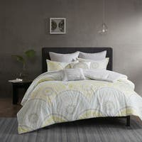 Carson Carrington Oslo Yellow Cotton Printed 7-piece Comforter Set