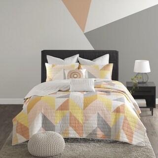 Urban Habitat Parker Orange Cotton Printed 7-piece Coverlet Set (2 options available)