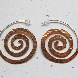 Never Ending Spiral Earrings by Spirit Tribal Fusion (Bali)