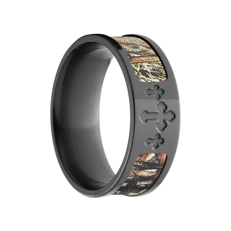 BZ Duck Blind Mossy Oak Zirconium Camo Ring (14), Men's, ...
