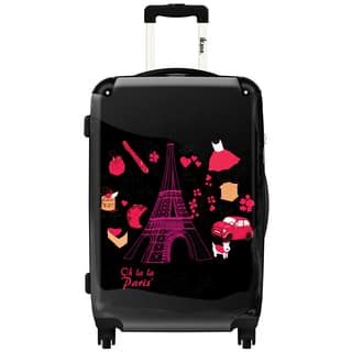 iKase 'Eiffel Tower' 24-inch Fashion Hardside Spinner Suitcase|https://ak1.ostkcdn.com/images/products/12222195/P19067172.jpg?impolicy=medium