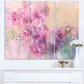 Twig of Lilac Flowers - Large Floral Wall Art Canvas