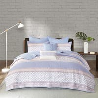 Urban Habitat Clarice Purple Cotton 7-piece Coverlet Set