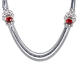 Stephen Webster Les Dents de la Mer Sterling Silver and Quartz Necklace
