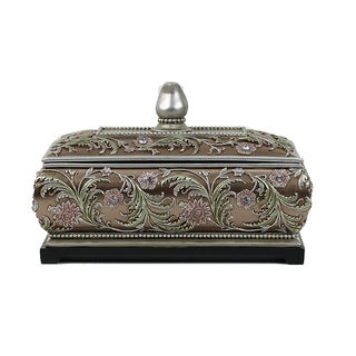 D'Lusso Designs Shandra Collection Multicolor Resin Large Jewelry Box