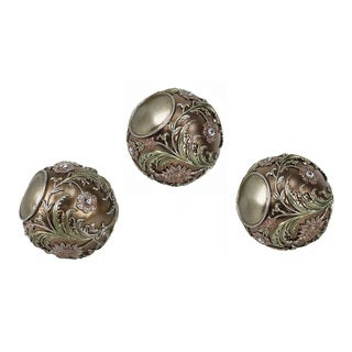 D'Lusso Designs Shandra Collection 3-piece Polyresin Orbs Set