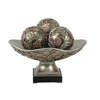 D'Lusso Designs Shandra Collection Decorative Bowl With Three Orbs Set