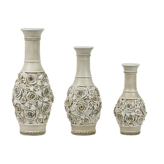 D'Lusso Designs Cassia Collection Three Vase Set