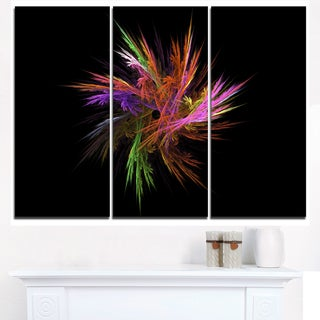 Excitingly Colorful Fractal Flower - Large Floral Canvas Art Print