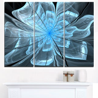 Light Blue Flower with Large Petals - Modern Floral Canvas Wall Art