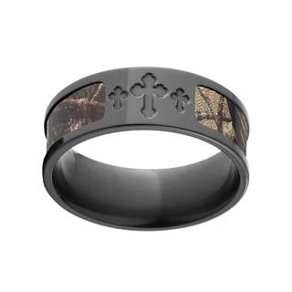 Black Zirconium RealTree AP Camo Ring