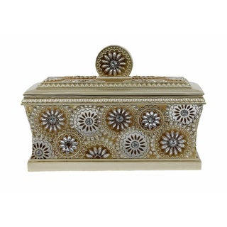D'Lusso Designs Venus Collection Goldtone Resin Large Jewelry Box