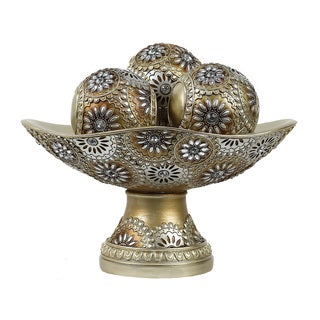 D'Lusso Designs Venus Collection 4-piece Bowl Set with 3 Orbs