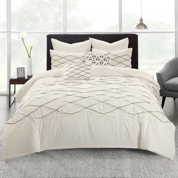 Urban Habitat Bellina White Cotton Duvet Cover Set