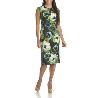 London Times Women's Floral Print Sheath Dress