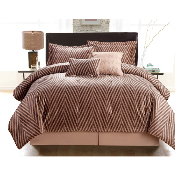 Jeremy by Artistic Linen Oversized and Overfilled Velvet Plush 6-piece Luxurious Comforter Set