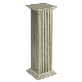 Cooper Classics Off-white Wood Mustain Pedestal