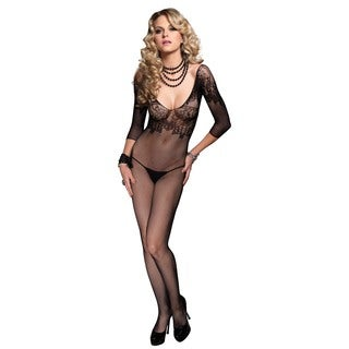 Leg Avenue Fishnet Quarter Sleeve Bodystocking