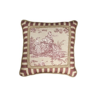 Sherry Kline Cassandra Toile 18-inch Pieced Throw Pillow