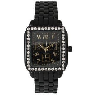 Olivia Pratt Women's Rhinestone Accented Stylish Watch