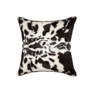 Luxe Multicolored Faux-fur Animal Print Square Accent Pillow