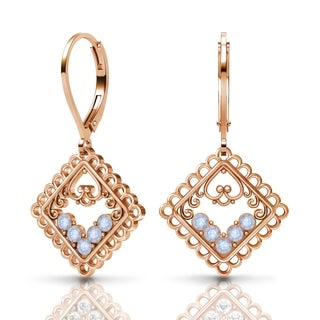 Sterling Silver Earrings by Lucia Costin Air-Blue-Opal Swarovski Crystals