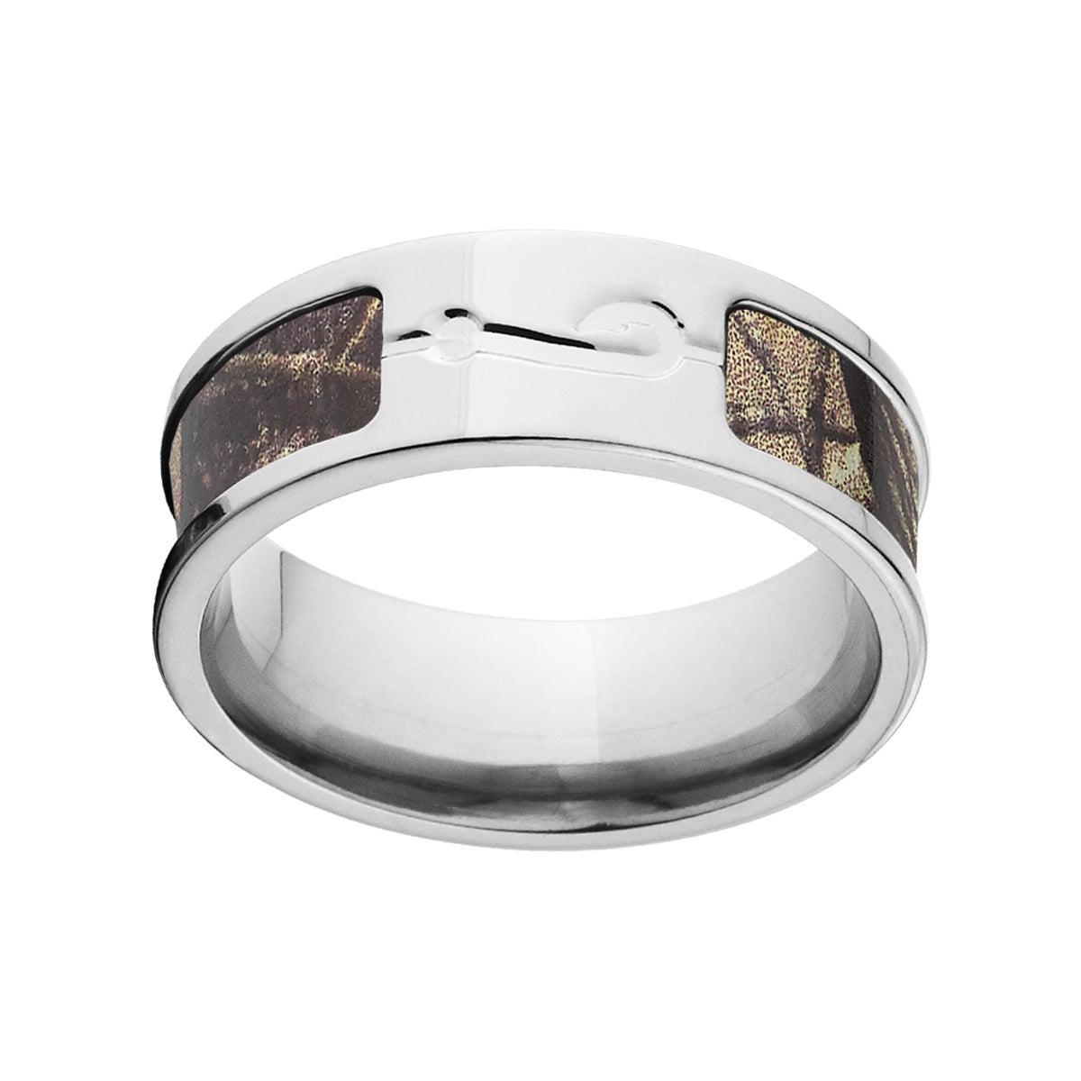 RealTree Multicolored Camo Titanium Ring (9.5), Men's