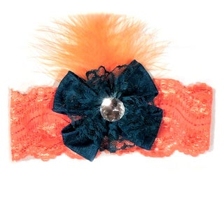 Girls Shabby Chic Feather Headband