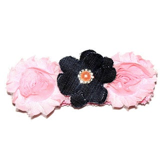 Shabby Chic Denim Headband