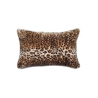 Luxe Belton Faux Leopard Fur 12-inch x 20-inch Pillow