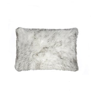NA Luxe Belton Gradient Grey Faux-fur 12-inch x 20-inch Pillow