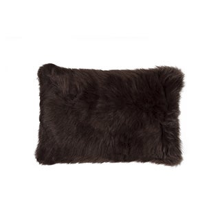 Luxe Belton Chocolate Faux Fur 12-inches Wide x 20-inches High Pillow