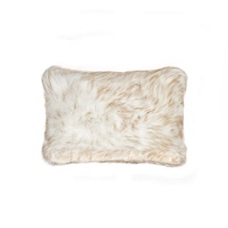 Luxe Belton Gradient Tan Polyester/Faux Fur 12-inch x 20-inch Throw Pillow