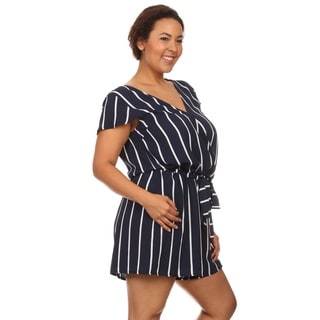 Hadari Women Short Sleeve V-Neck Short Romper